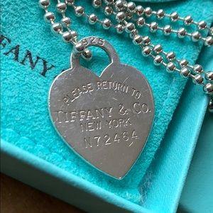 Tiffany's Heart Tag beaded necklace